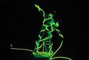 Dancers in Fiber Optic