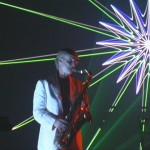 Laser show saxophone performance picture