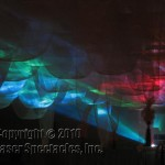 laser show projection through fabric