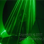 picture showing man inside a Laser Cone