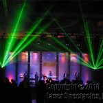 Laser Show with a Band