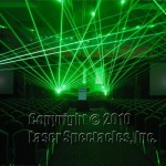Laser show rehearsal picture