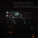 Laser Salute projected upon a mural
