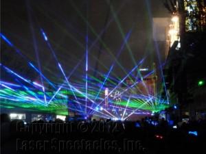 Laser Beams Dance