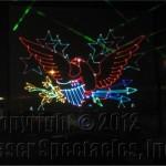 Laser Eagle standing
