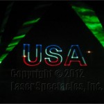 USA in laser