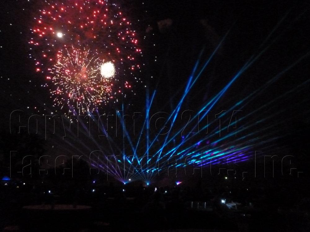 Fiesta Fireworks San Antonio 13 April 2014 Laser