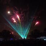 Laser fireworks