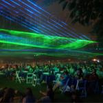 Symphony laser show