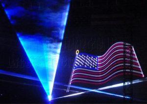 Laser USA flag