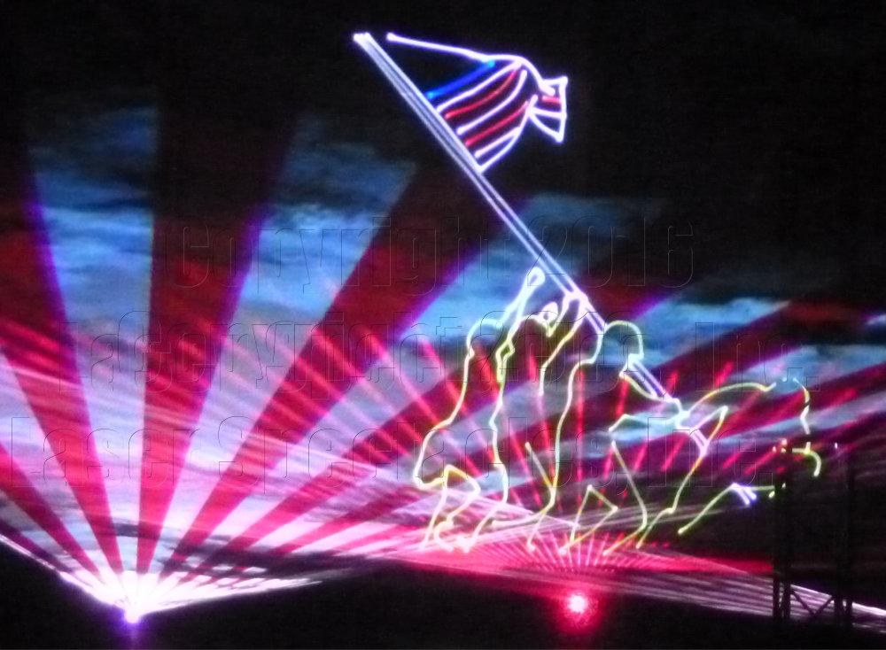 Laser show Iwo Jima