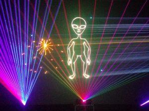 Alien body in laser